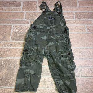 OshKosh Camo overalls 12 months green